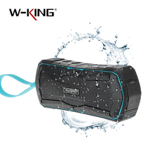 W-King 4000mAh Power Bank Portable Wireless Bluetooth Speaker Outdoor Waterproof Stereo Speaker Bicycle Speaker for Mobile Phone
