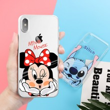 For iPhone X Mickey Mouse Minnie Donald Duck Daisy Winnie Pooh Bear Stitch Soft Case For iPhone 8 6 6S 7 Plus(China)