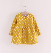 2017 hot selling winter children girls dress fashion swan printing thicken woolen long sleeve princess dress size 2-8 N5775(China)