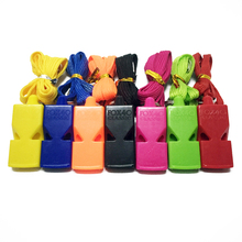 Free Shipping 50pcs/lot Colorful Fox 40 Whistle Football Basketball  Sport Whistle Refree Whistle with FOX40 logo Lanyard