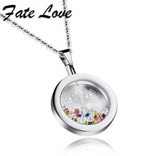 Classic Stainless Steel Guadalupe Model Pendant  Charm Crystal Pendant Necklace Religous Pendant Special Offer For Women FL1060