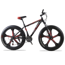 "Buy Mountain bike Aluminum Bicycles 26 inches 21/24 speed 26x4.0"" Double disc brakes Fat bike fahrrad road bike bicicleta bicycle for $191.59 in AliExpress store"