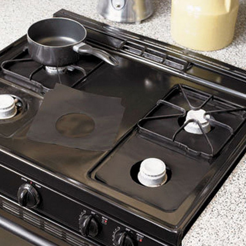 Details about  /4 Uds protectores de horno a Gas reutilizable estufa de Gas quemador cubierta