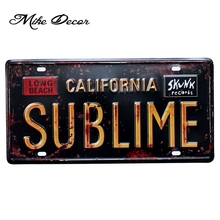 [ Mike86 ] CALIFORNIA SUBLIME Metal sign decor Retro Gift Craft Wall Plaque Pub decoration D-519 Mix order 30*15 CM