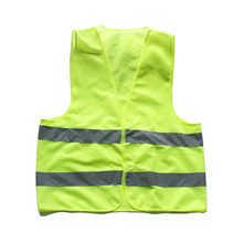 Car Motorcycle Reflective Safety Clothing High Visibility Safety Reflective Vest Traffic Warning Coat Reflect Stripes(China)