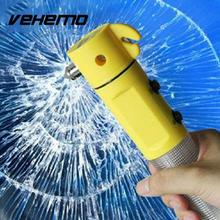 Vehemo Car Safety Hammer Hammers Lifesaving Tools Torch Styling Glass Break Beacon(China)