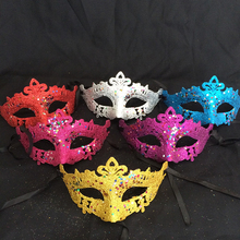 Cool Sexy Lady Women Plastic Eye Mask Masquerade Party Dress Carnival Fancy Ball Costome Color Random(China)