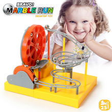 DIY mable run Amaze balls The Saucer electronic music toy,assembled building block smart funny kit with music & light