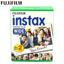 Brand New Fujifilm Instax Wide Film Plain Edge Twin Packs (20 Photos) for Instant Photo Camera Instax 200 210 Free Shipping(China)