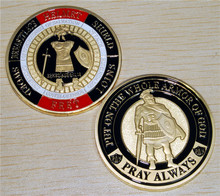 Armor of God Pray Always Military Challenge Coin,Free Shipping