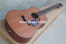 Wholesale Factory custom 41-inch acoustic folk guitar with mahogany body,red tortoise shell pickguard,Can be customized