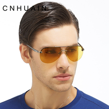 CNHUAIN Drivers Night Driving Glasses Men's Glasses Night Vision Goggles Polarized Eyewear 100% Anti-glare Sunglasses Men Women