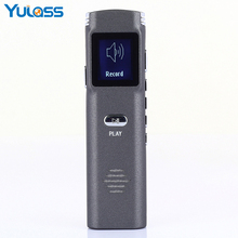 Yulass Mini Digital Voice Recorder Dictaphone 8GB Professional Audio Recording pen With WAV MP3 Record and Player(China)