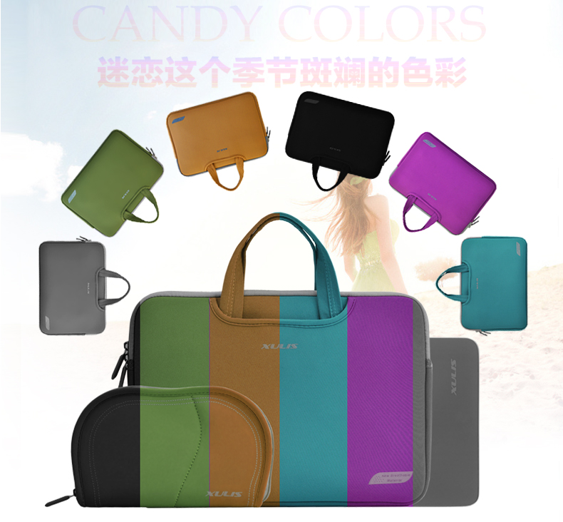 XULIS 3IN1 fashion color  Cartinoe laptop bag  Shockproof handle bag soft fabric mouse pads + power bag + computer bag<br><br>Aliexpress