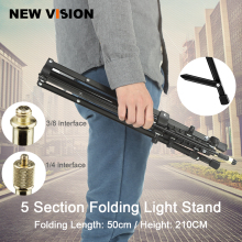 5-Section 210cm 83'' Reverse Legs Light Stand Reverse fold Studio Photo Stand Photo Studio Accessories(China)