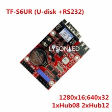 5pcs/lot LongGreat TF-S6UR USB Driver & Crossed Serial RS232 Ports Small LED Display Controller Card(China)
