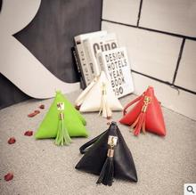 Hit South Korea fashionable tassel triangle zero wallet temperament handbag mini rice dumplings package bags