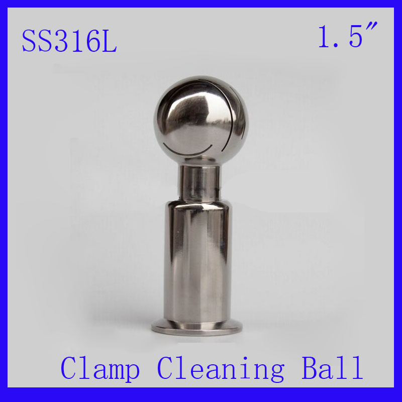 HOT 1.5 SS316L Stainless Steel Rotary  Spray Cleaning Ball  Clamp Tank cleaning ball washing ball  CIP cleaning head<br><br>Aliexpress