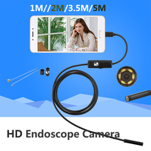 5.5mm Lens Android USB Endoscope Camera 1M 5M IP67 Waterproof Snake Pipe Gadget Inspection Android Phone OTG USB Borescope 6LED(China)