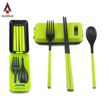 Wulekue 1PCS Portable Travel Kids Adult My Cutlery Fork Camping Picnic Set Gift for Child