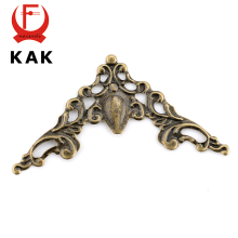 KAK Metal Angle Corner Brackets Gold Bronze 40mm Notebook Cover For Menus Pasting Box Photo Frame Furniture Decorative Protector