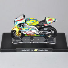 1/18 Scale VALENTINO ROSSI Aprilia RSW 250 46# Mugello 1999 Motorcycle Diecast Motorbike Model Kids Gift Collection