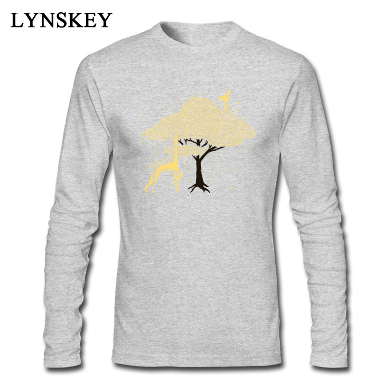 Lost in Africa Round Collar Boy T-Shirt Summer/Fall Summer Tops Tees Long Sleeve Special 100% Cotton Fabric Normal Tee-Shirt Lost in Africa grey