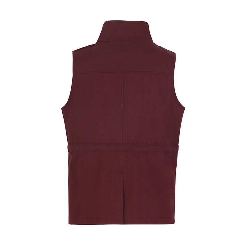 Women Waistcoat Spring Autumn Casual Thin Sleeveless Vest Multi-pockets Drawstring Cardigan Jacket Vest