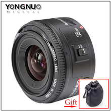 Buy Yongnuo 35mm lens YN35mm F2 lens Wide-angle Large Aperture Fixed Auto Focus Lens Suit canon EF Mount E OS Cameras Gift x1 for $112.82 in AliExpress store
