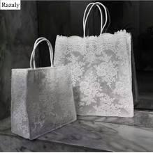 014e1d0da06 Razaly merk designer kant winkelen tote hoge kwaliteit grote tas dames  grote handtassen bloemen zwart wit