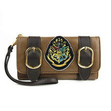 Harry Potter Hogwarts Castle Crest Envelope Satchel Fold Wallet Cell Phone Pocket Coin Purse with Tag(China)