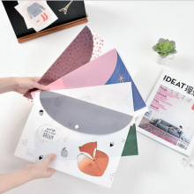 """Sweet Dream"" File Folder Pack of 4 Cute Plastic Document Study Working File Bag Organizer School Big Pocket Bag"