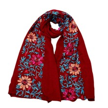 2017 Autumn Winter Women Long Style Scarves Sunscreen Vintage Floral Embroidered Scarves Shawl Ethnic