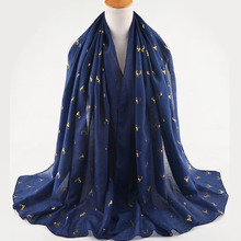Fashion cotton scarves,plain cotton head scarf with ironing deer heads,Muslim hijab,shawls and scarves,wrap shawls,glitter scarf(China)