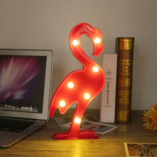 Creative Swan LED Night Light 7-LEDs Switch Decoration Lamp Plastic Atmosphere Battery Powered Night Lamp Accessories(China)