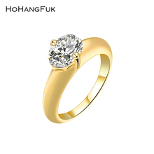 Buy HoHangFuk 2017 Exquisite Ring Gold Color AAA Clear Cubic Zirconia CZ Wedding Bands Women Rings Jewelry Free Gift for $2.36 in AliExpress store