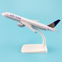 16cm Metal Aircraft Plane Model Air American United Airlines B777 Boeing 777 Airways Airplane Model w Stand  Kids Gift