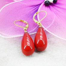 High Quality Natural Red Shell Pearl Earrings Ear Eardrop Water Tears Wedding Women Girls Gifts Jewelry making 10x18mm