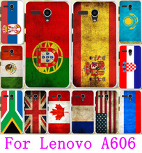 Silicone Phone Cases For Lenovo A606 Cases Retro National Flag UK Ukraine Russia Soft TPU Covers For Lenovo A606 Housing Bags
