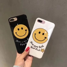 Korea Super Fashion Keep Your Smile Good Luck Smiling Face Full Protection TPU Case Cover For Iphone6 6S 6Plus 7 7Plus