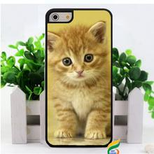 Gato Angora Negro cat kitty fashion original cell phone case  cover for iphone 4 4S 5 5S 5C SE 6 plus 6s plus 7 7 plus #2110