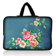 "14"" China Rose Laptop Sleeve Case Bag Cover +Handle For Sony VAIO/CW/CS/HP Dell Acer Apple Macbook Pro 15"""