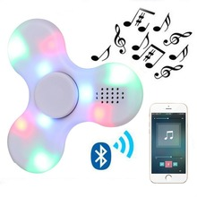 Bluetooth Speaker Finger Fidget Music Spinner with luminous led lights Antistress Funny hand skinner toys for children Adult(China)