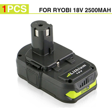 New 18V 2500mah RB18L25 Lithium Ion Replacement Battery For Ryobi Power Tools Cordless Drill Replace P103  P104  P105 P107  P108