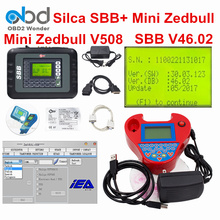 2017 DHL Free Silca SBB V46.02 + Mini Zedbull Auto Key Programmer SBB Better Than V33.02 V33.2 Zed Bull OBDII Key Maker Zed-Bull(China)