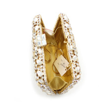 Luxury Fashion Full Crystal Evening Clutch Bag sparkly Gold Long Designer pochette Wedding Party Purse banquet bag lady gifts