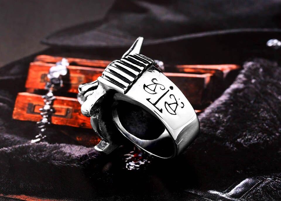 แหวนเท่ห์ๆ Code 061 แหวนเทพ Anubis สแตนเลส ส่งฟรี3