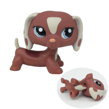 Pet Shop Dachshund Dog #1631 Brown With Blue Eyes Puppy Figure Toy Kids Gift