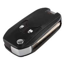 Flip Key Shell fit for NISSAN Cube Micra Note Qashqai Juke Romote Key Case with logo