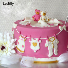 Ledifly 3D Soap Baby Clothes Baking Sugar Paste Fondant Mould Cake Cupcakes Molds DIY Hot Products